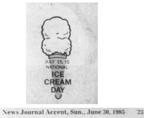 Ice Cream Day 1985