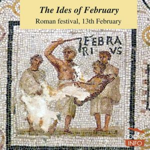 February, fragment of a mosaic with the months of the year