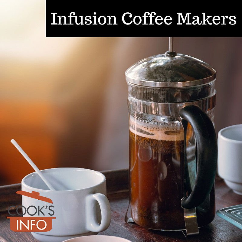 French-press style infusion coffee maker