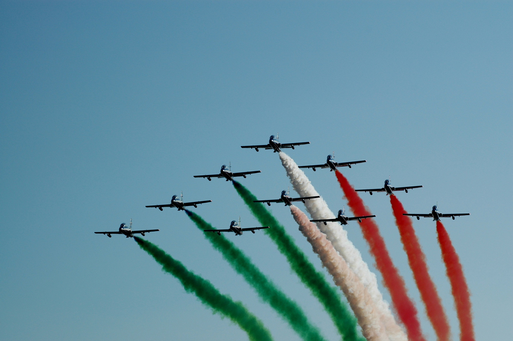 Flyby of planes in Rome