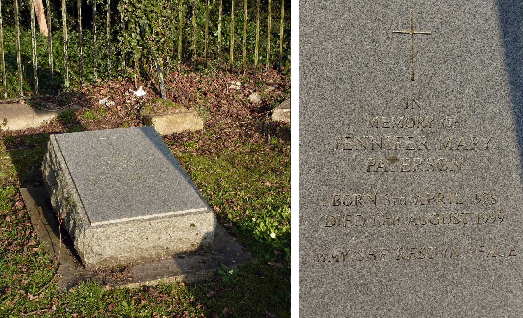 Jennifer Paterson grave