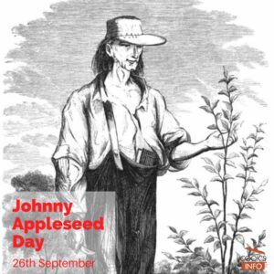 Drawing of Johnny Appleseed