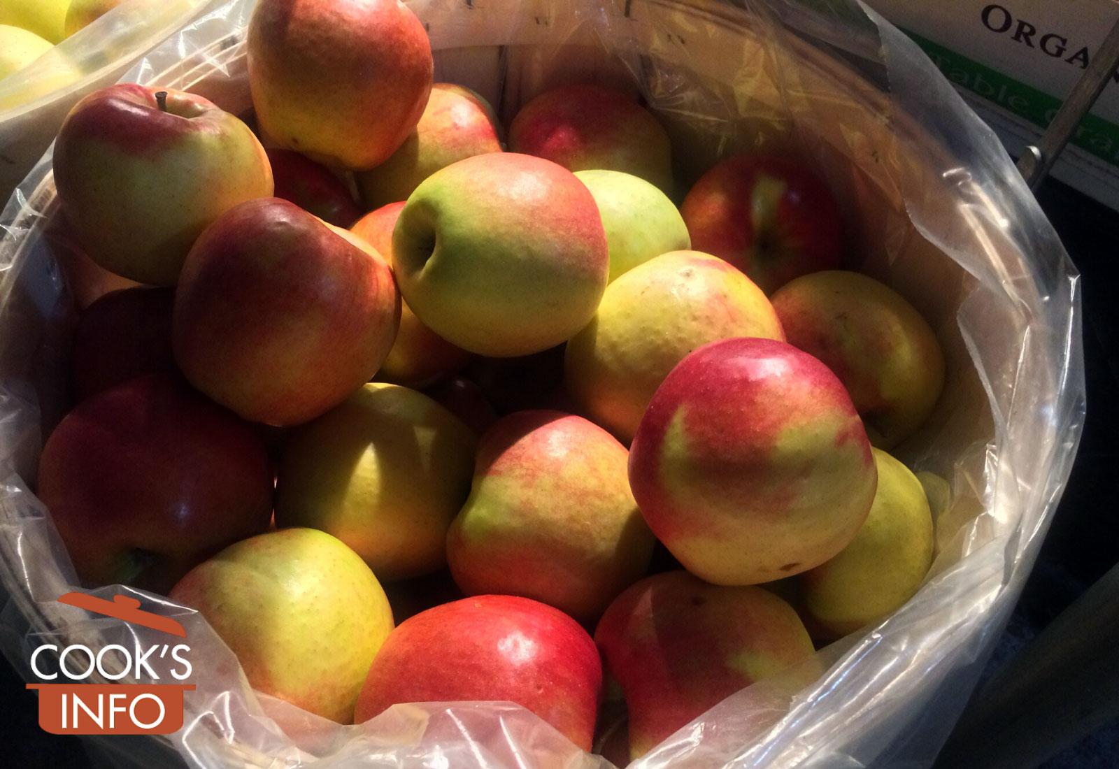 Jonagold apples in basket