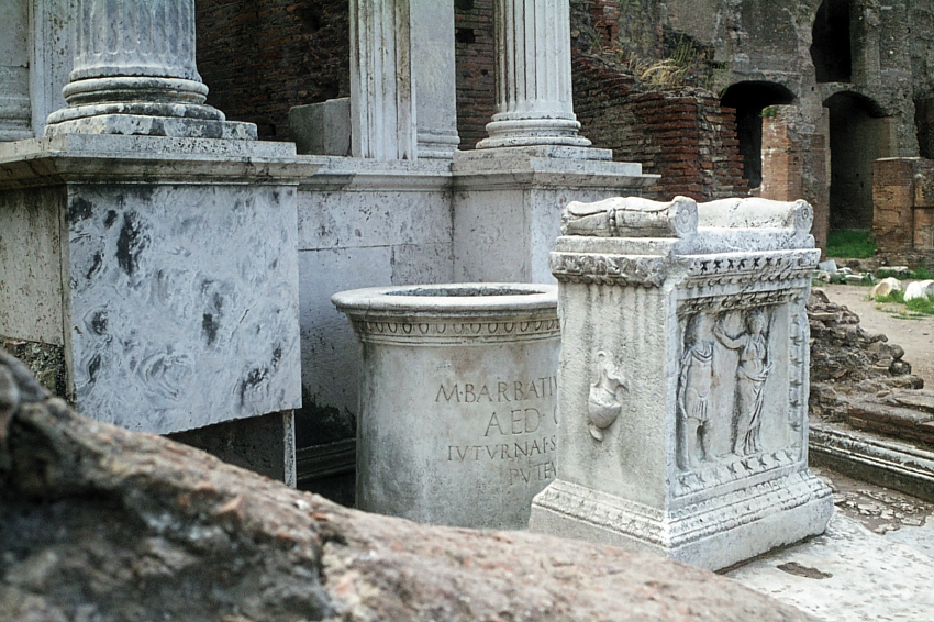 Shrine to Juturna at spring in Roman forum