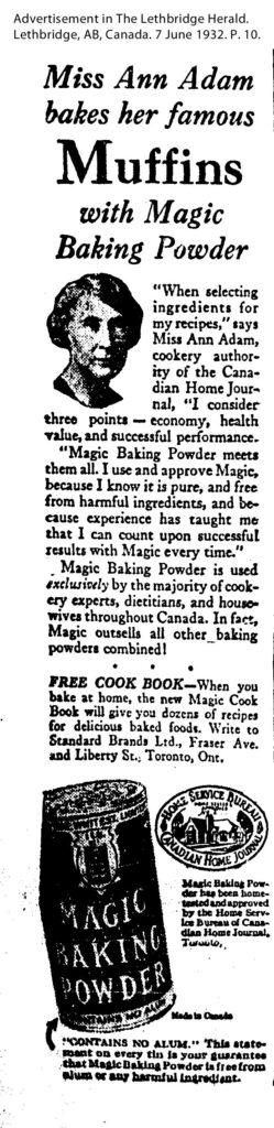 Katherine Caldwell Bayley advertisement in Advertisement inThe Lethbridge Herald, 1932