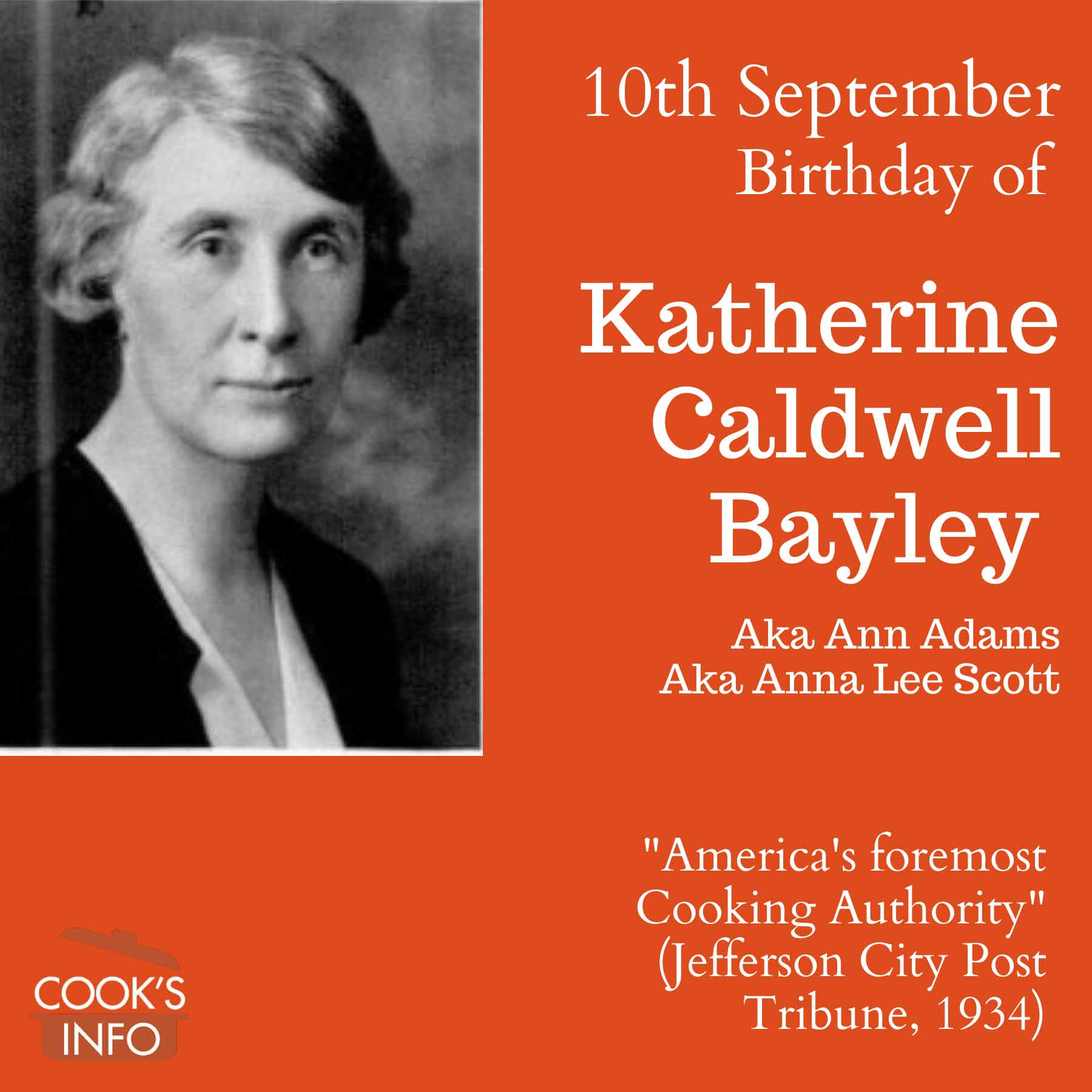Katherine Caldwell Bayley birthday