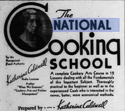 The National Cooking School Series: Lesson 10. St Petersburg, Florida: The Independent. Tuesday, 12 February 1935