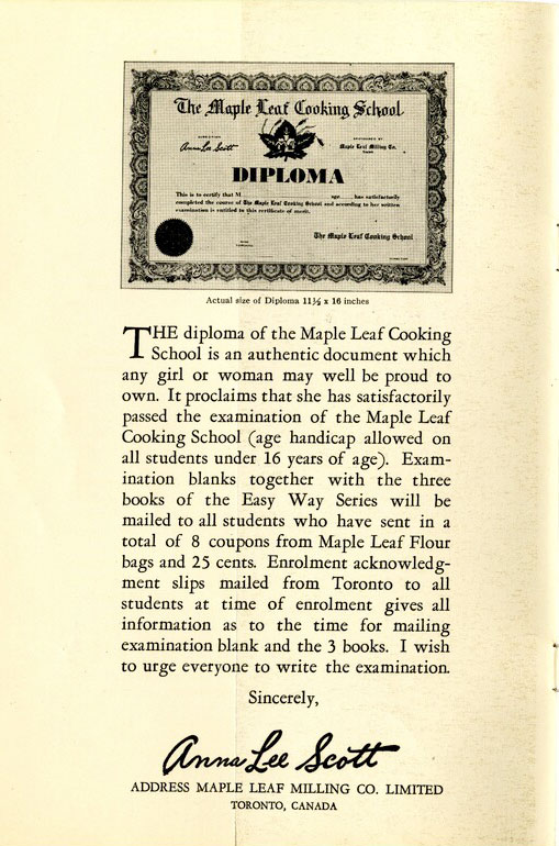 Maple Leaf Cooking School: A Complete Home Study Course for Beginners and Others in Twelve Easy Lessons. 1932