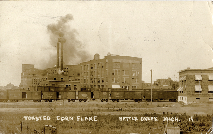 Kellogg Toasted Corn Flake Company factory in Battle Creek, Michigan. 1912