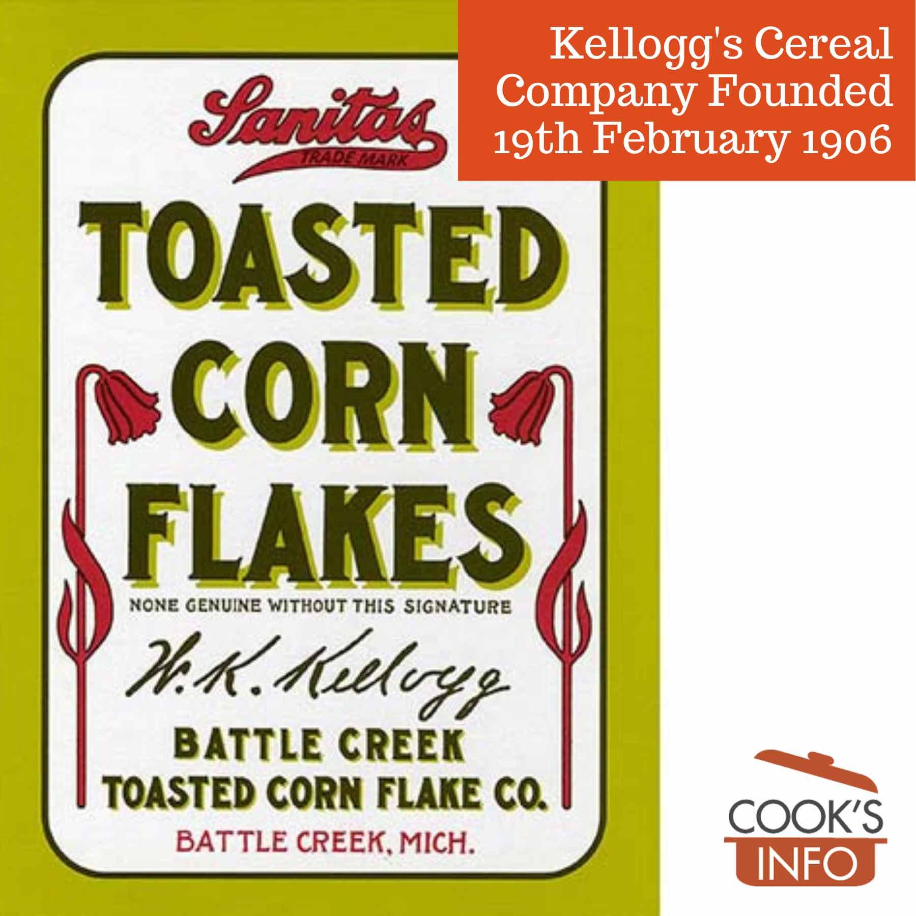 Original 1906 Kellogg's Corn Flakes box