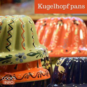 Assorted coloured kugelhopf pans.