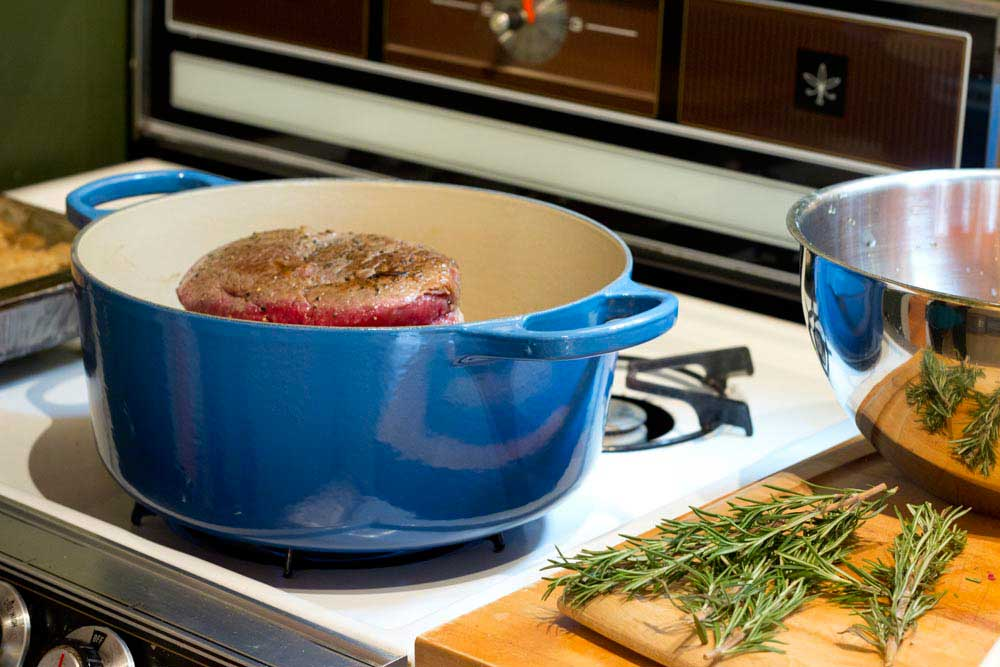 Le creuset in use