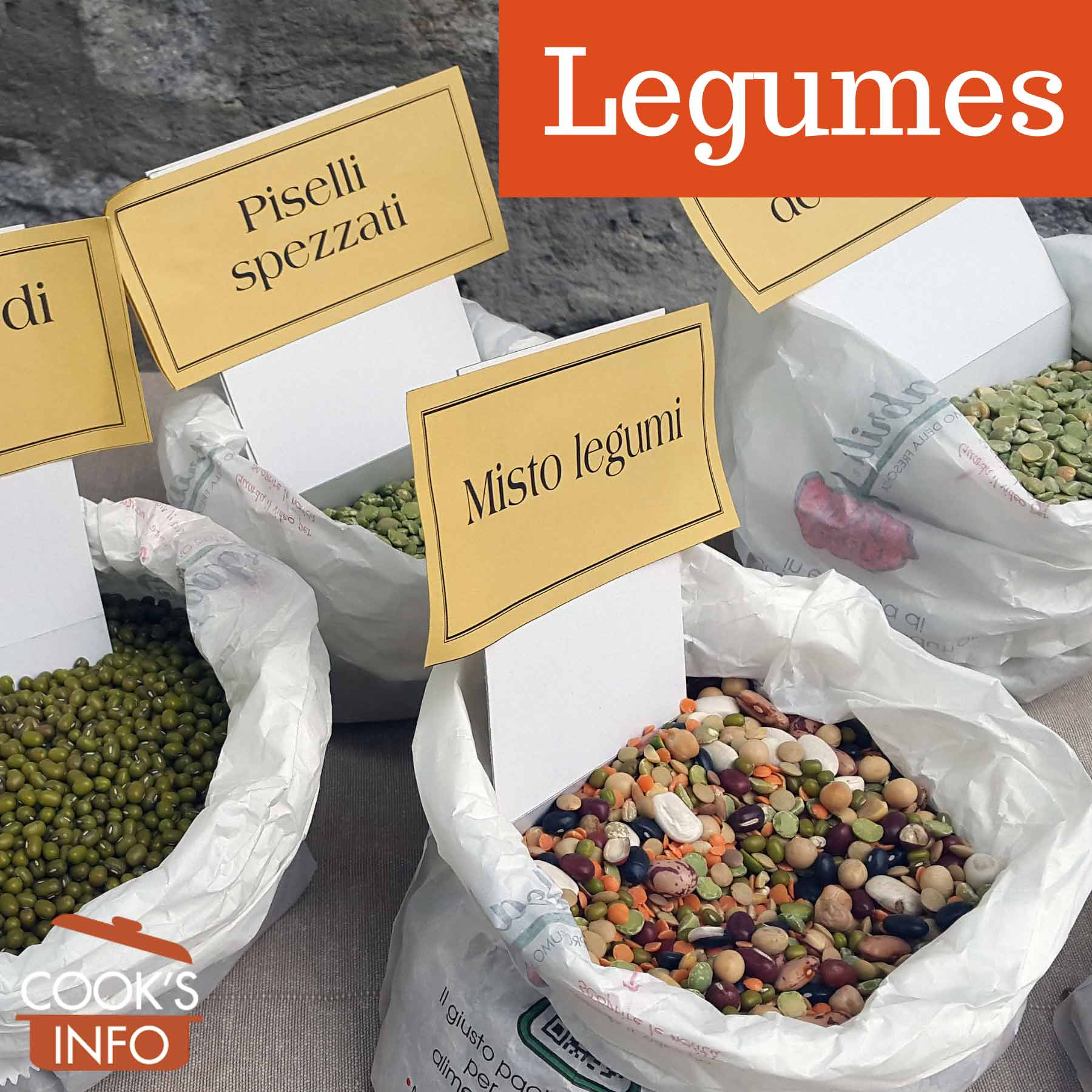 Legumes for sale in Italy