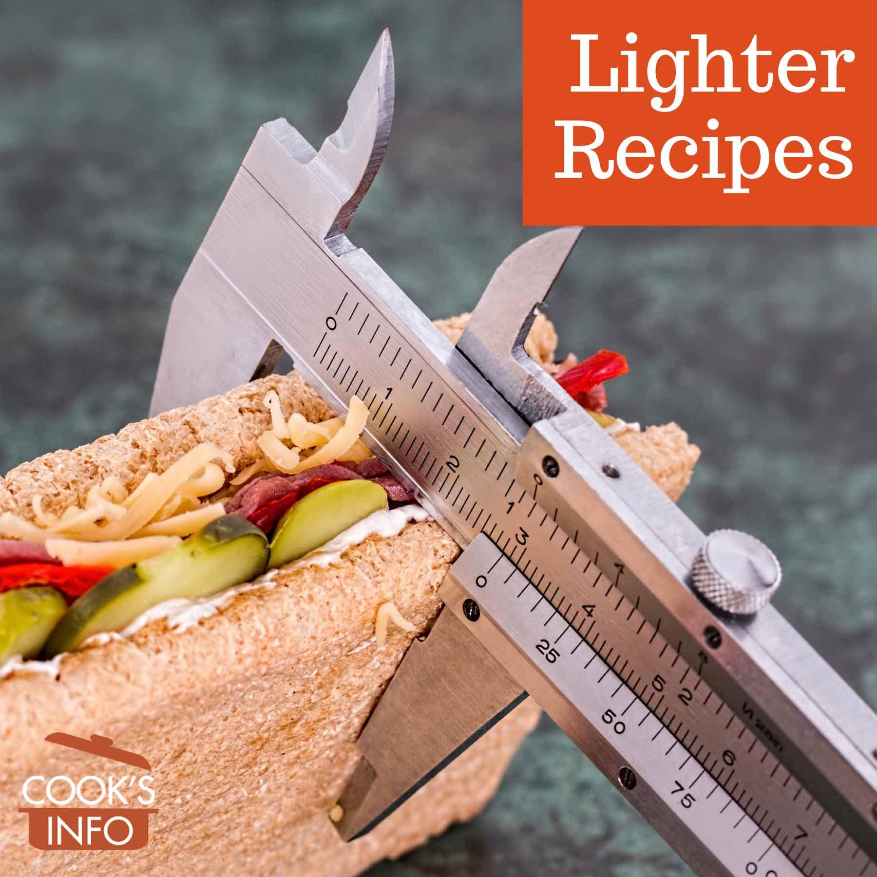 Measuring width of a sandwich