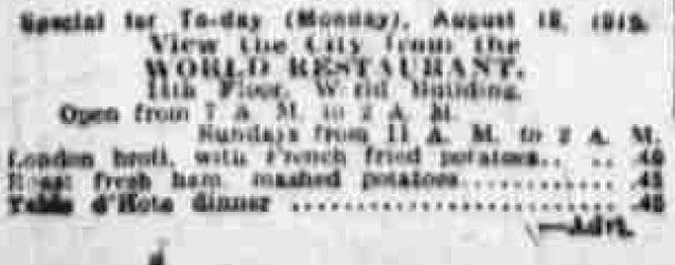 London broil advertised 1919
