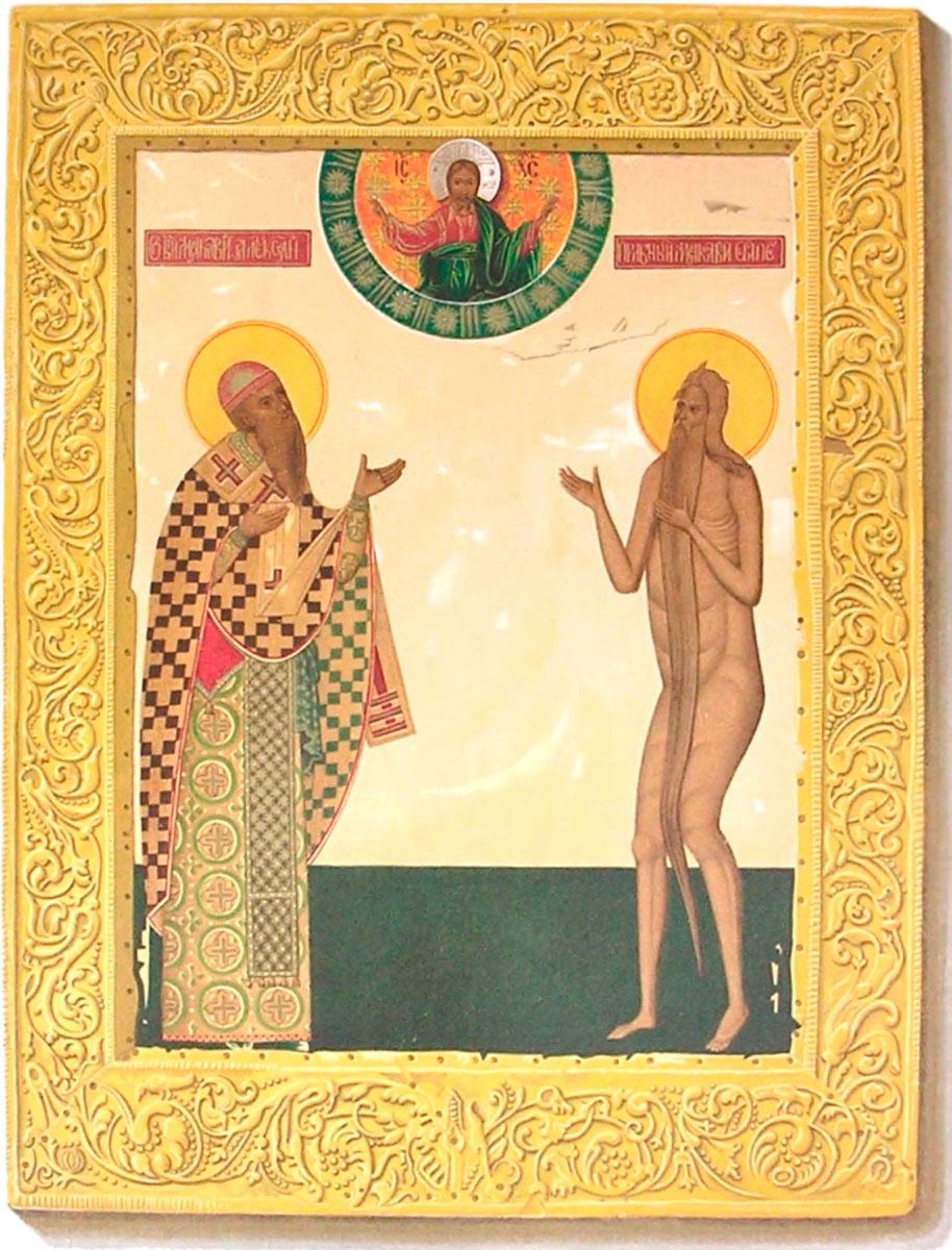 Saint Macarius painting