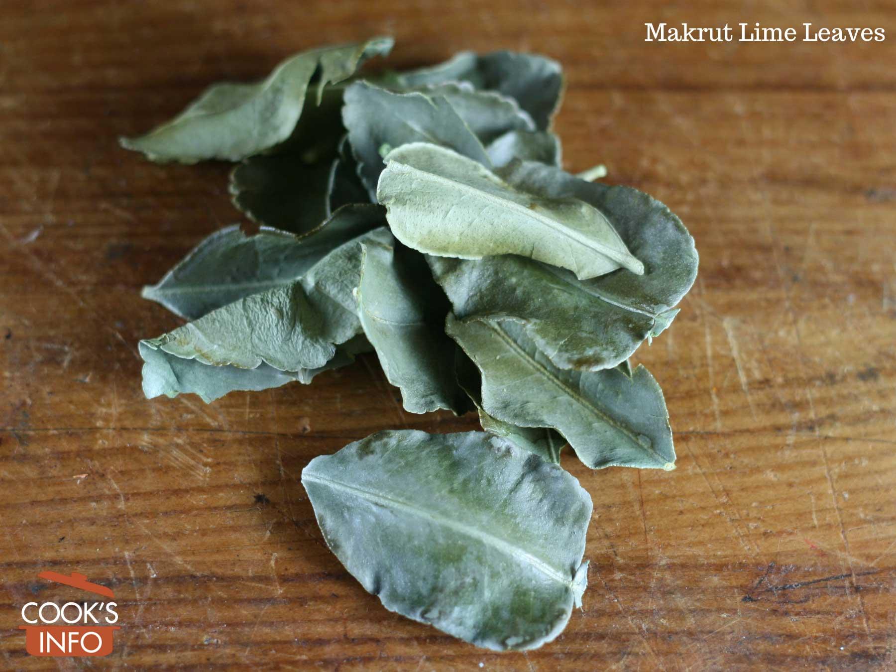 Makrut lime leaves