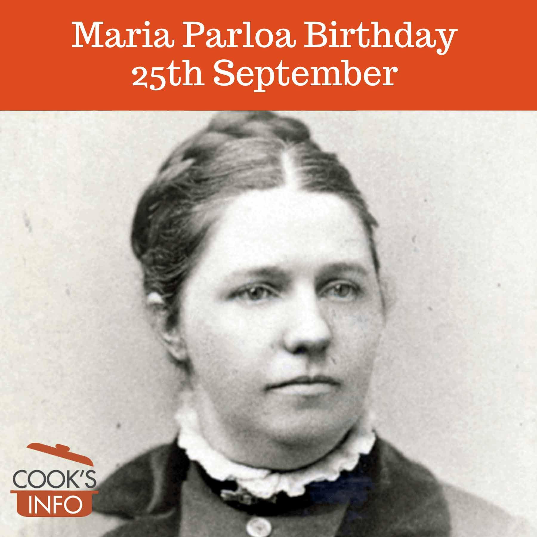Maria Parloa in 1880