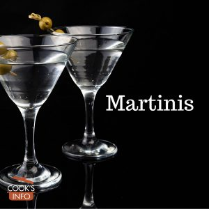 Martinis with olive