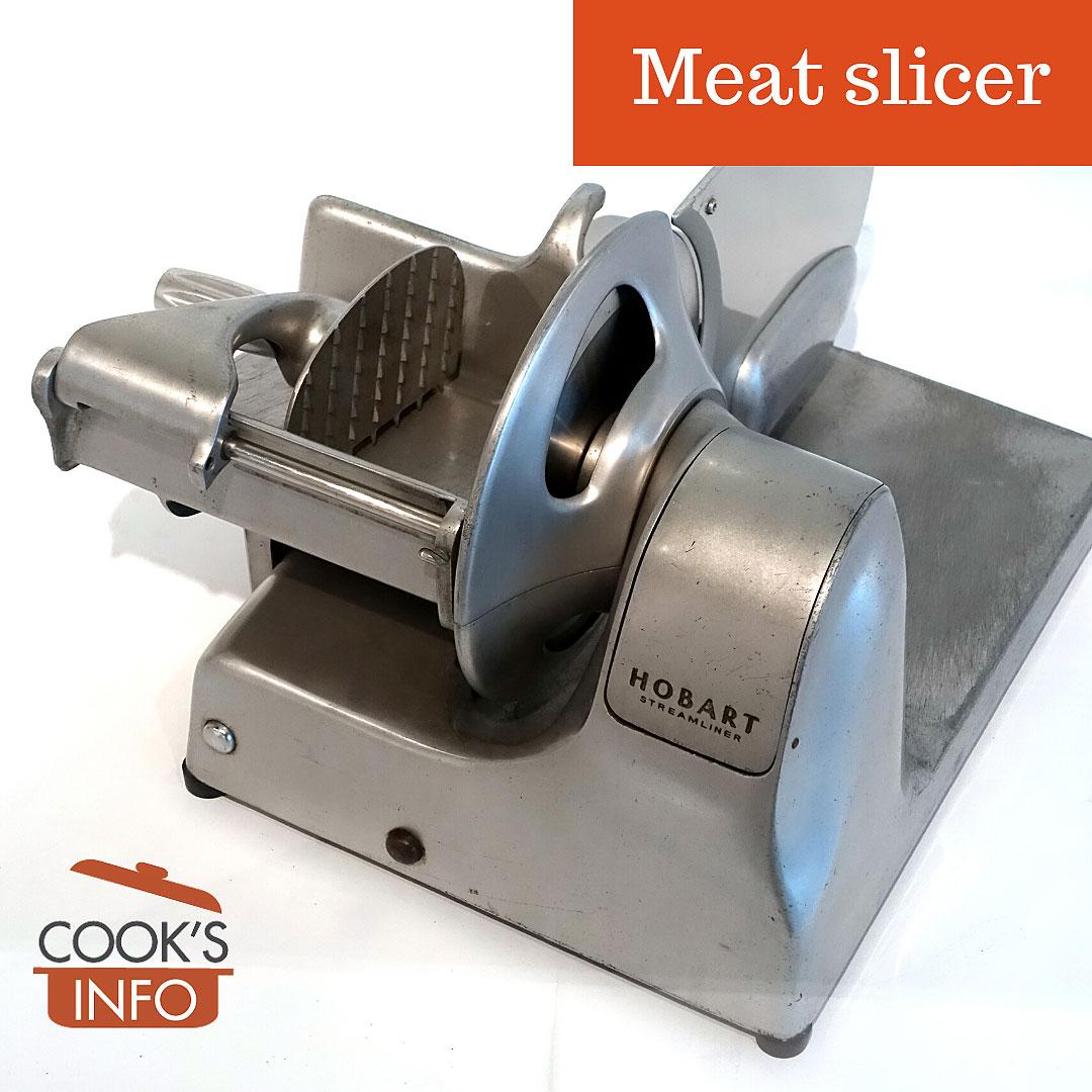 Classic Hobart meat slicer