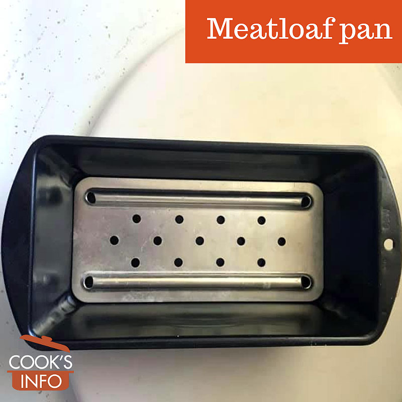 Meatloaf pan with bottom insert.