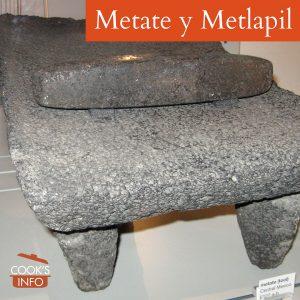 Metate y metlapil