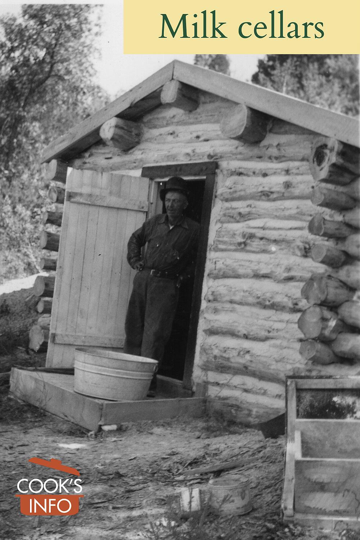 Milk cellar circa 1940