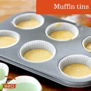 Muffin tin with batter in the cups