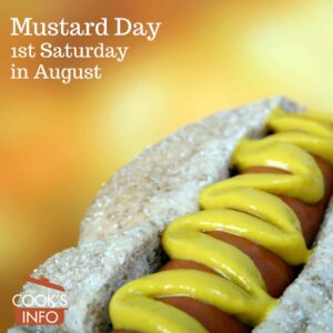 Mustard on a hot dog