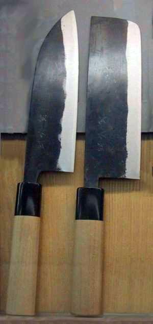 Nakiri knives, Osaka compared to Tokyo