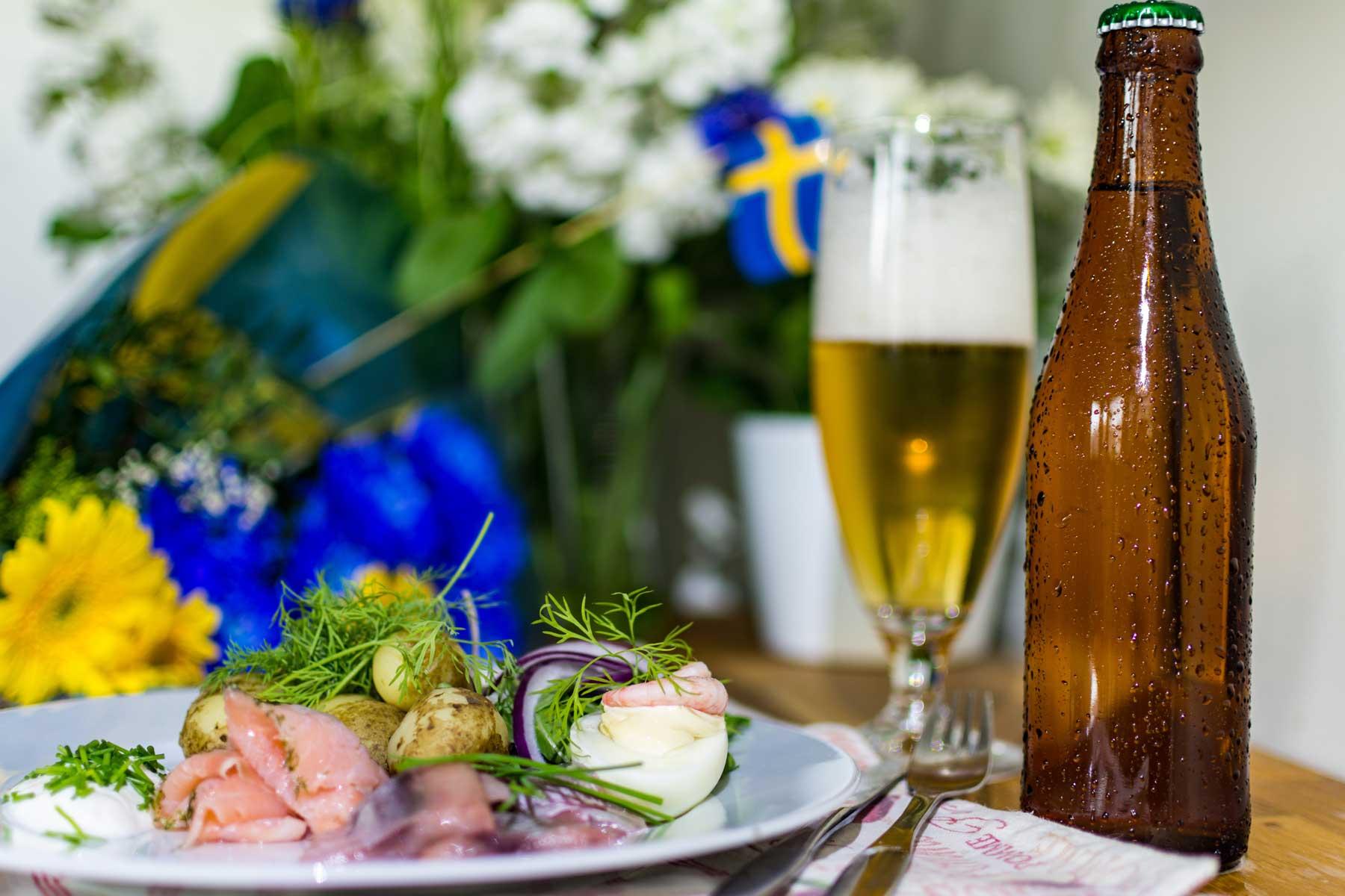 Swedish Midsummer Night celebration food