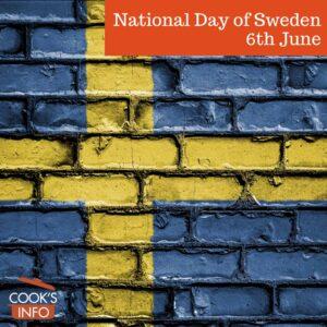 Swedish flag on brick