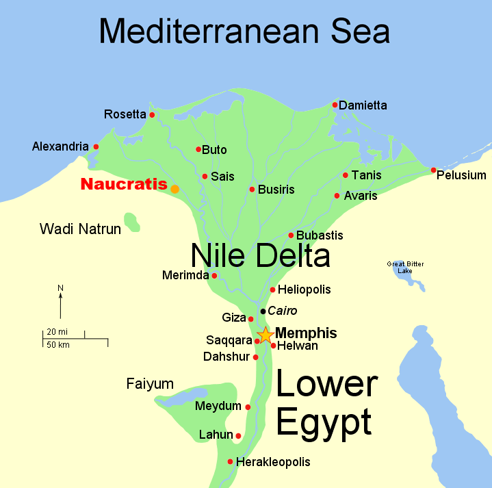map showing Naucratis