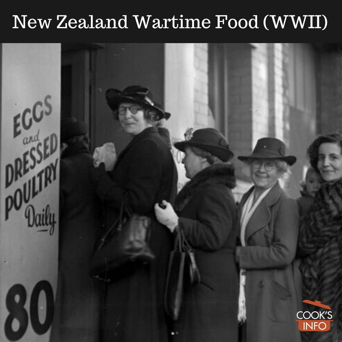 Women queuing for rationed goods during World War 2, New Zealand.