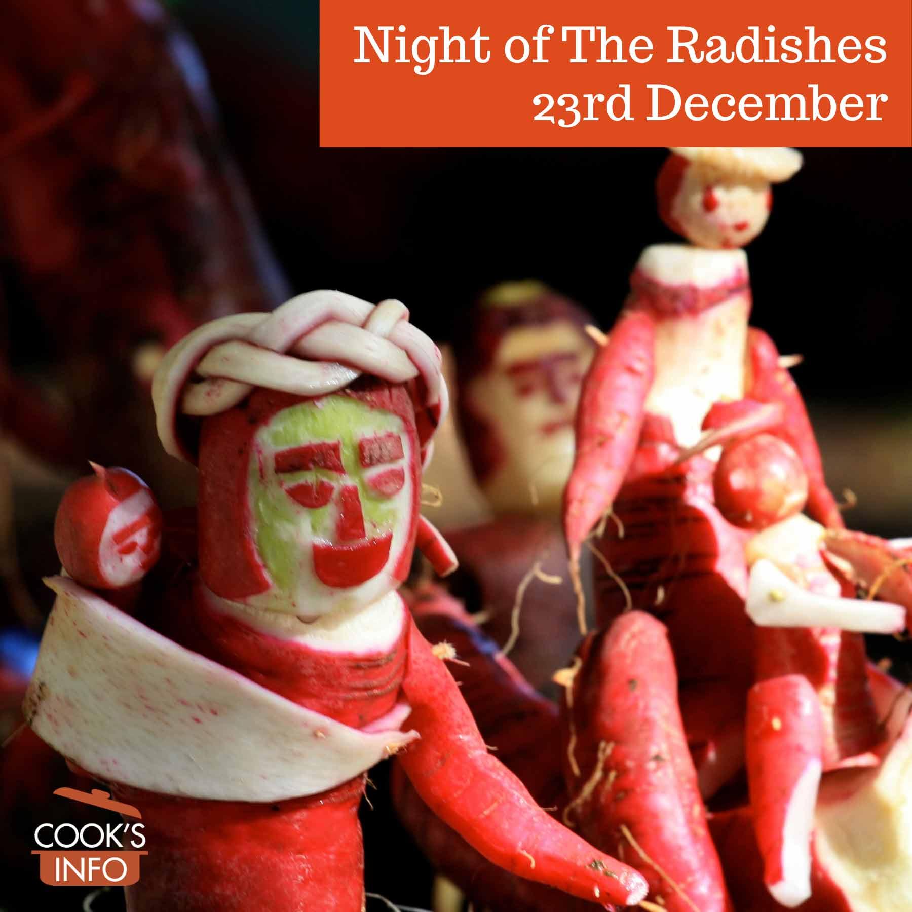 Radish sculptures