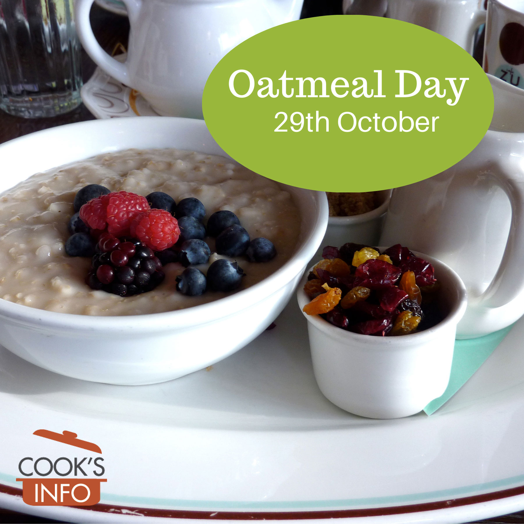 Bowl of oatmeal porridge