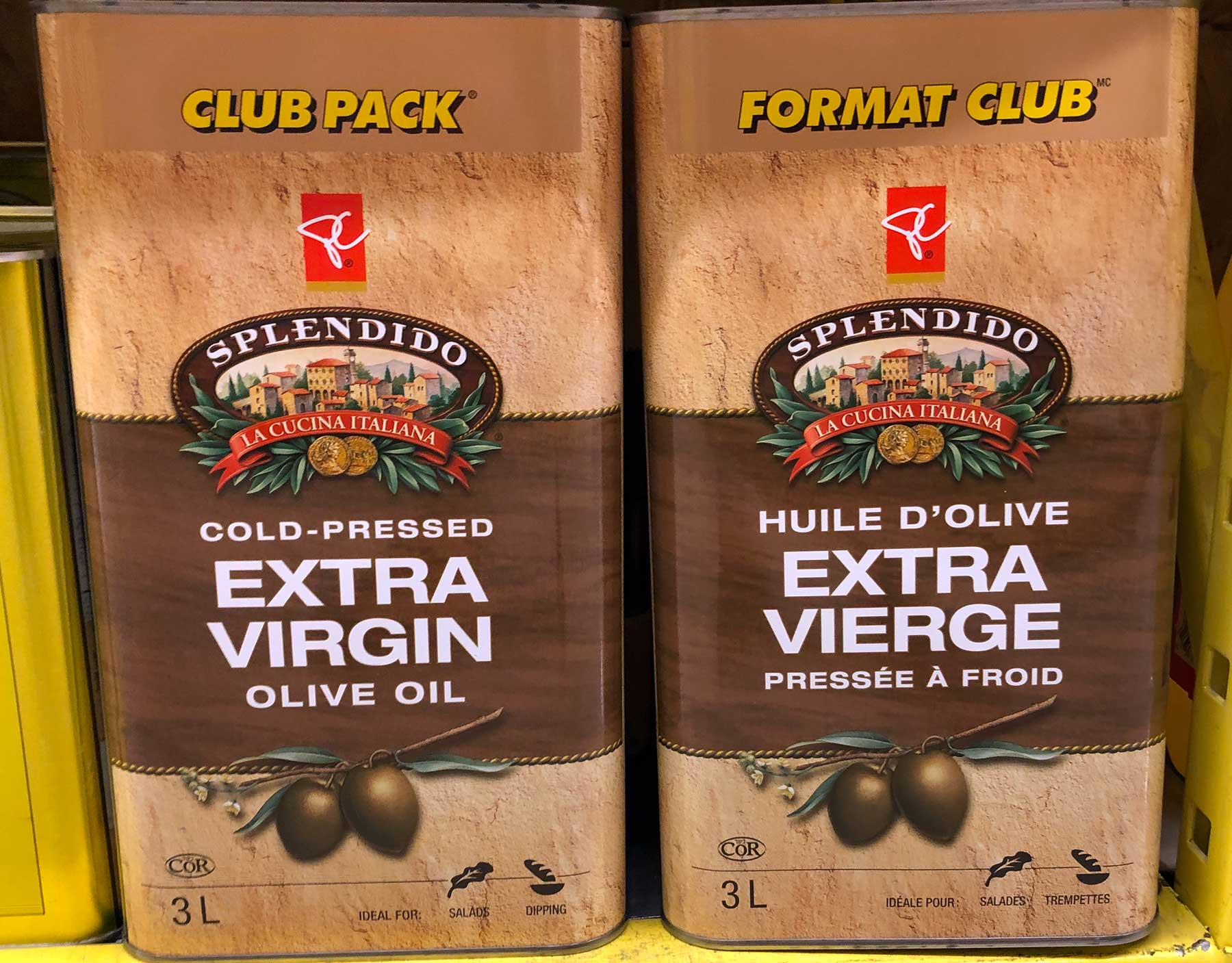 Cold-pressed olive oil.