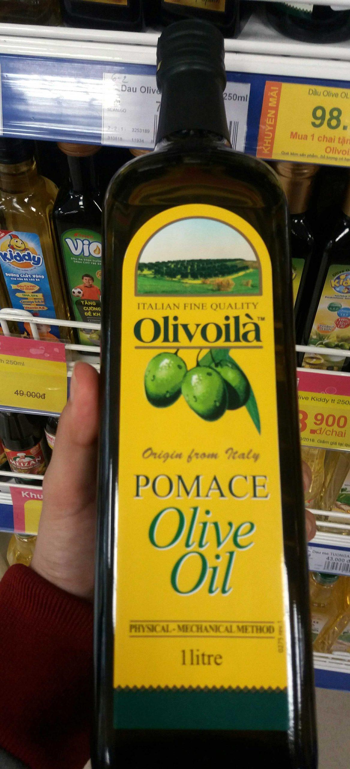 Pomace olive oil.