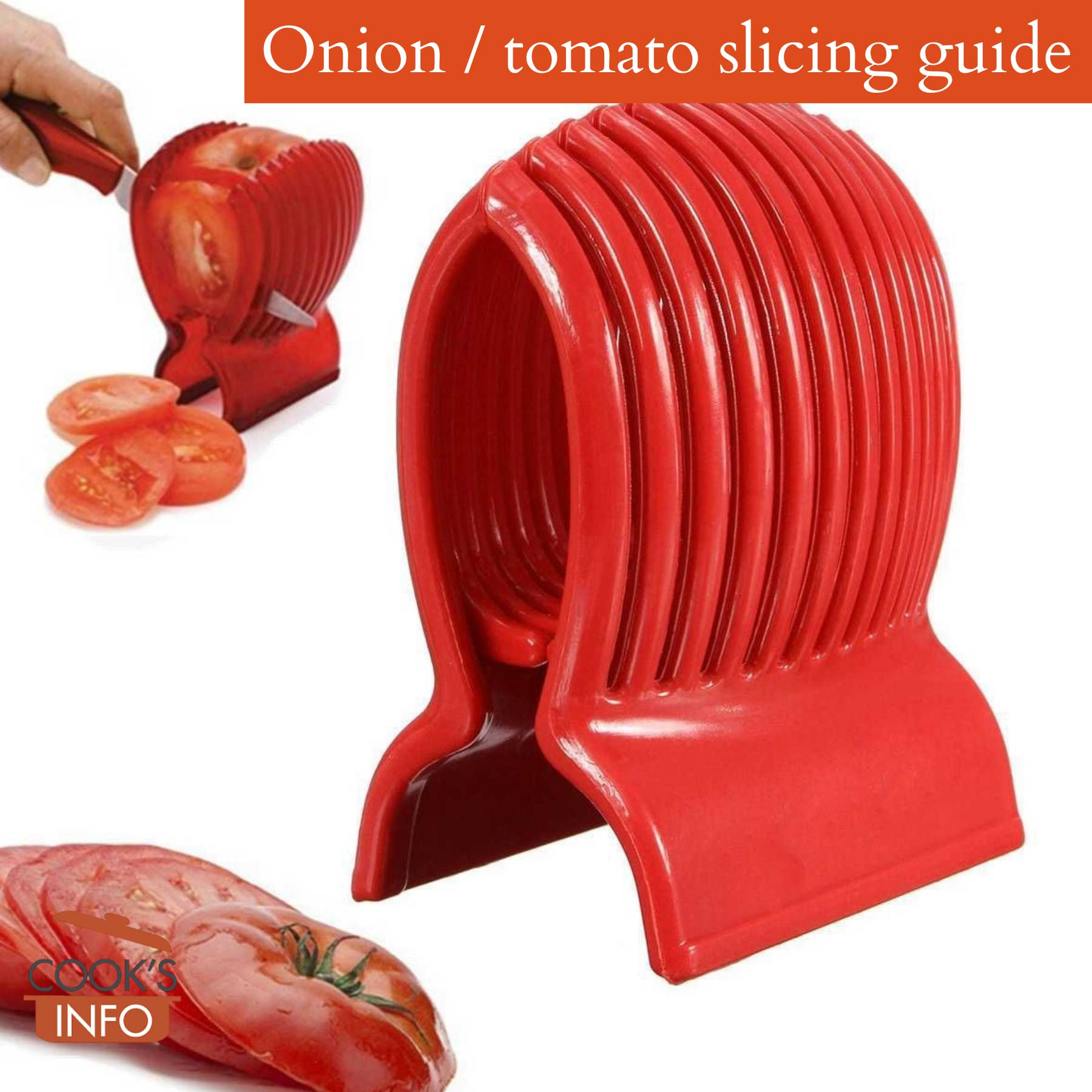 Onion / tomato slicing guide
