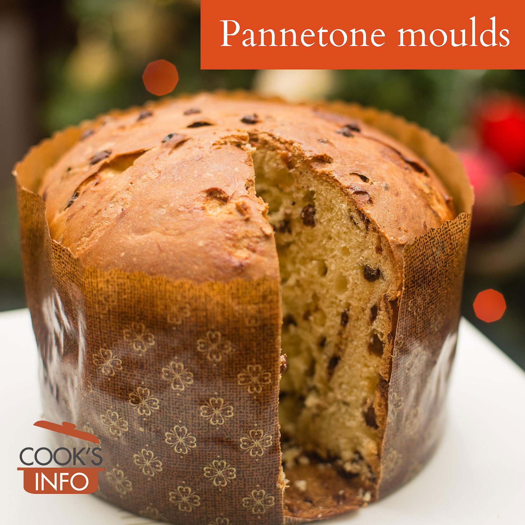 Panettone in paper mould