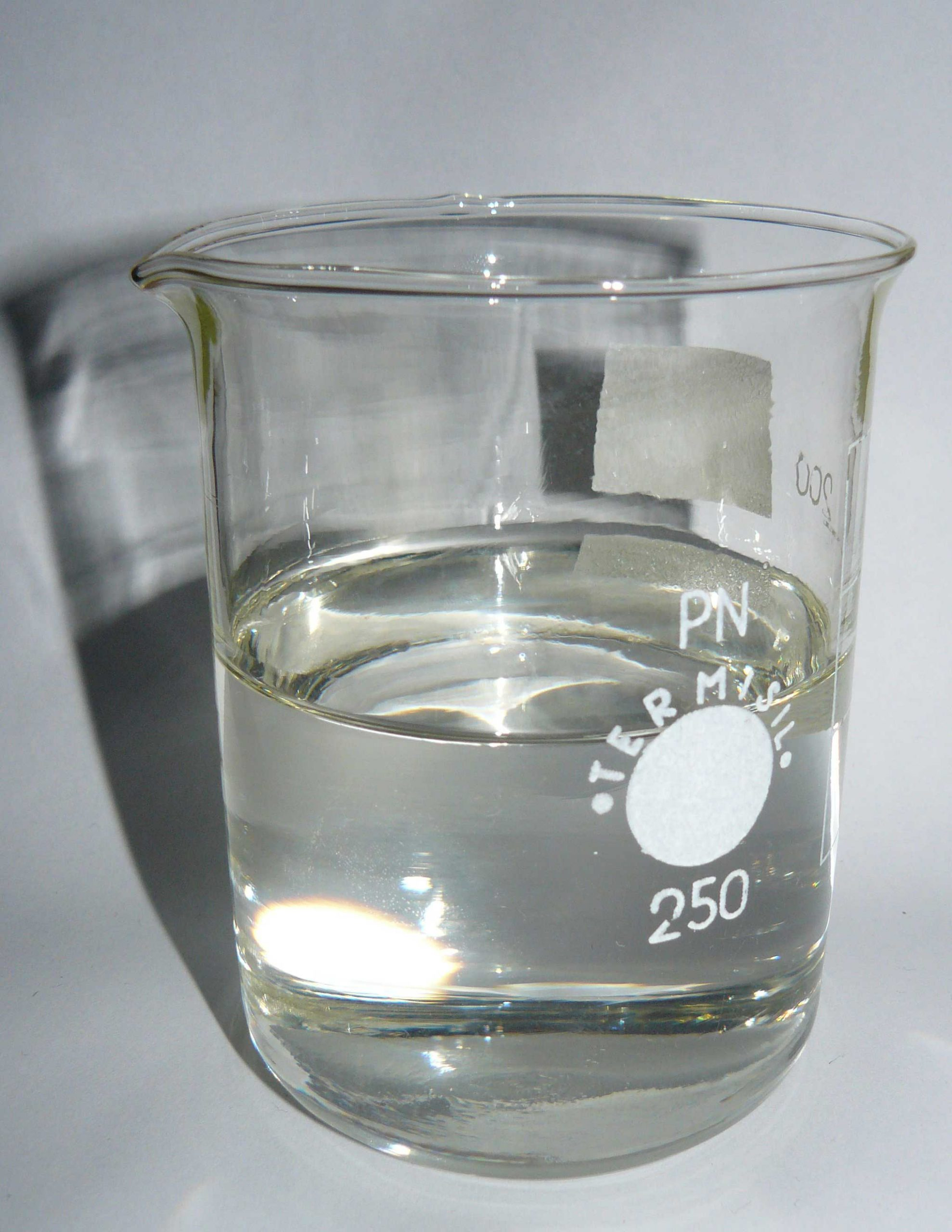 Paraffin in liquid state in beaker