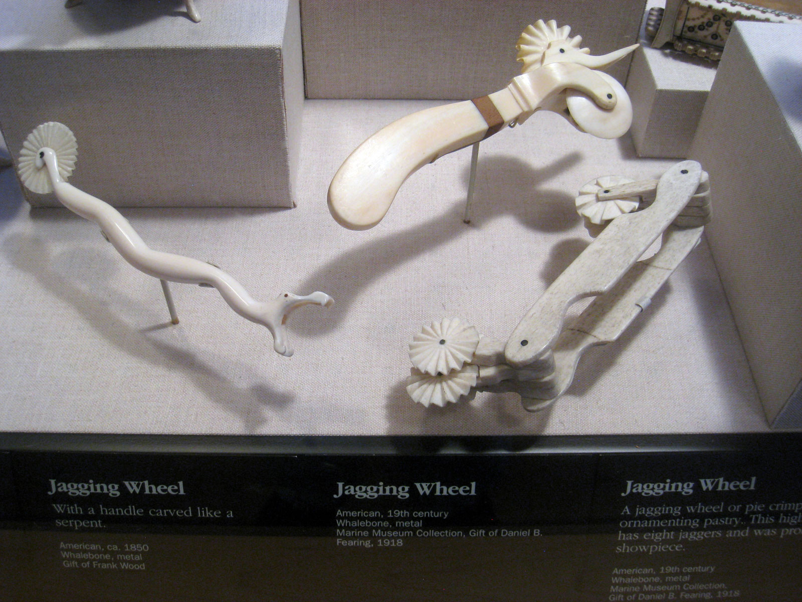 Pastry jiggers made of whalebone,