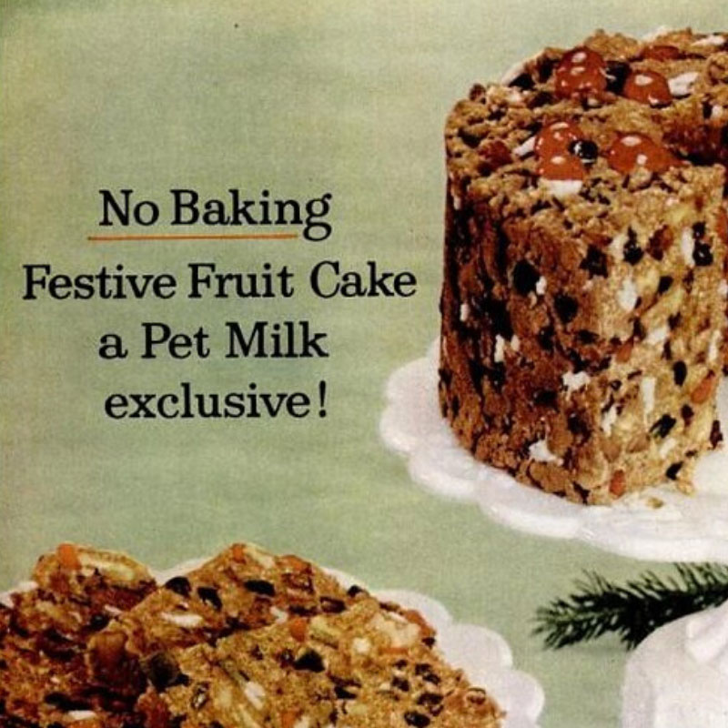 PET No-Bake Festive Fruitcake Recipe