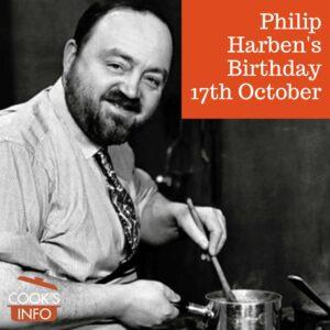 Photograph of Philip Harben (1906-1970) stirring a pot