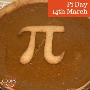 Pumpkin pie with Pi symbol