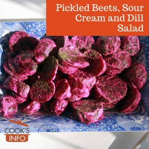 Pickled Beets, Sour Cream and Dill Salad
