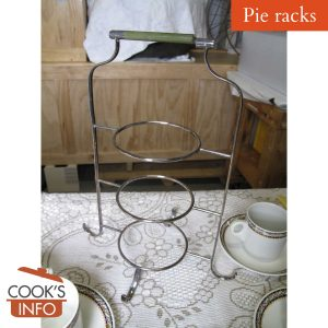 Three-tiered EPNS pie rack / cake stand