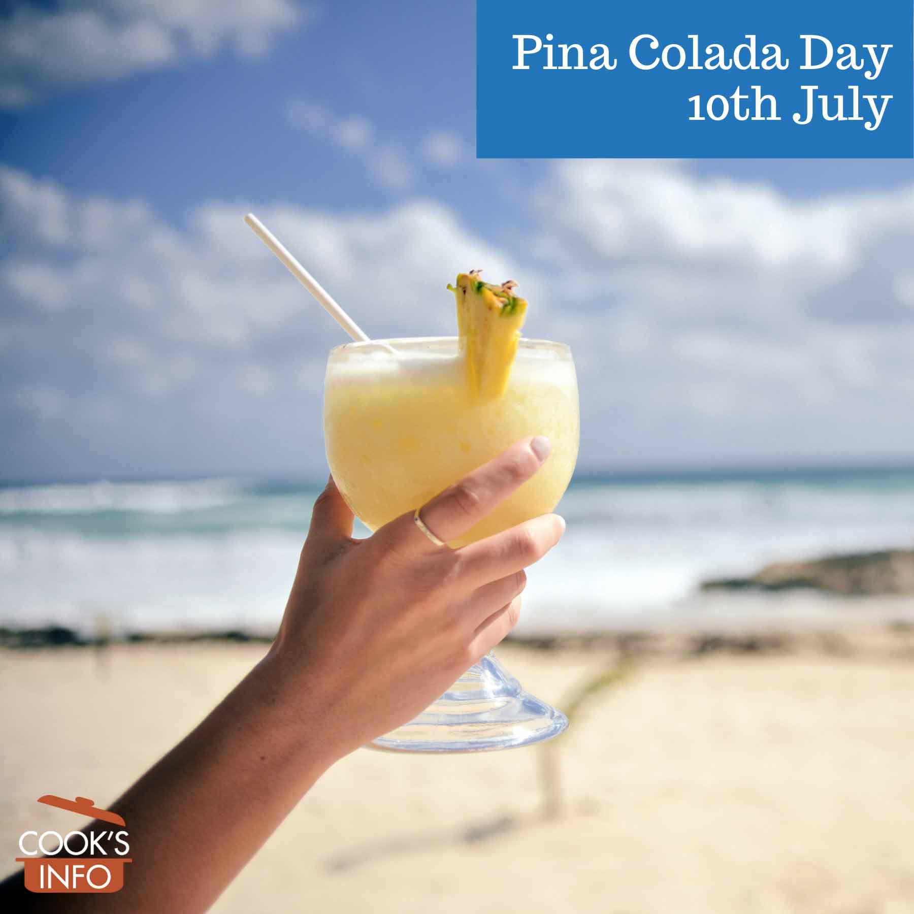 Pina colada by the shore