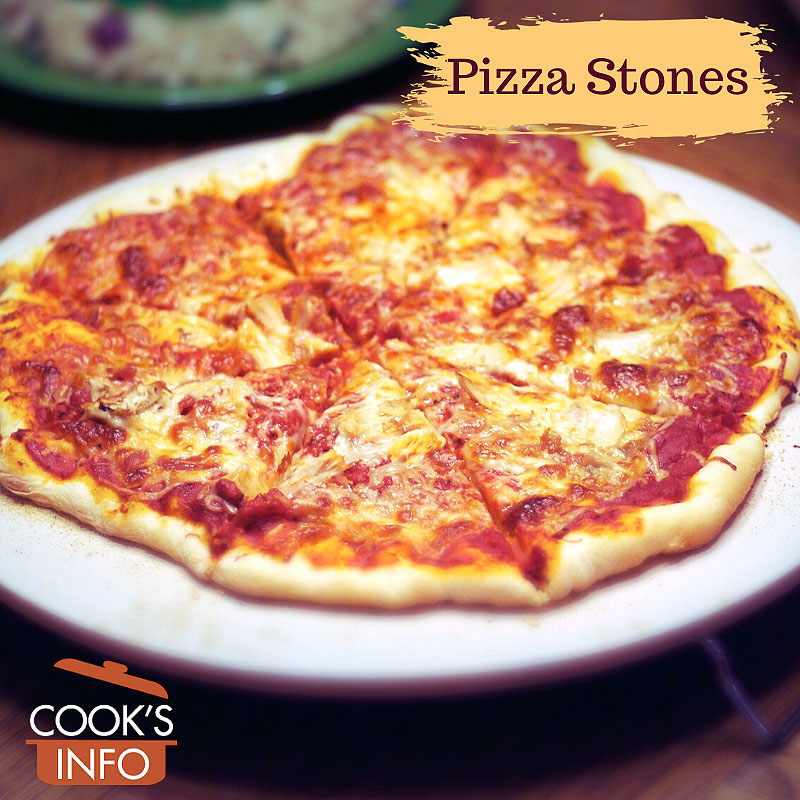 Pizza on a pizza stone