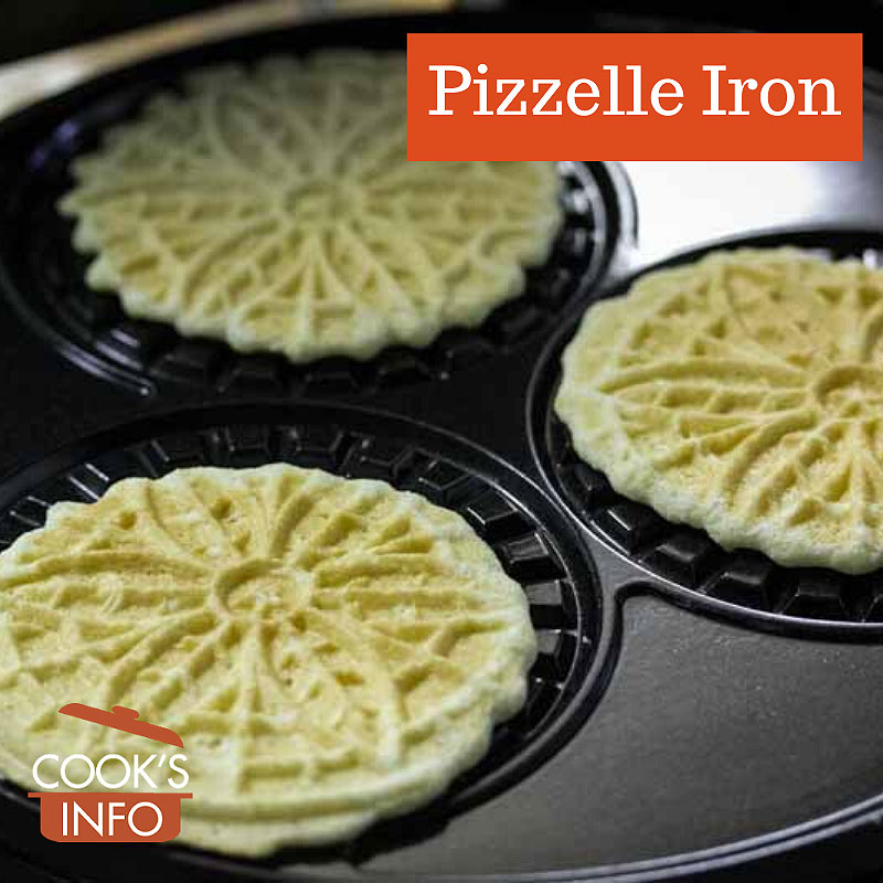 Electric pizzelle iron